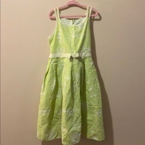 Girls size 8 Green & white Dress by George